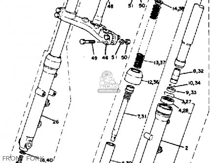 Yamaha Tz250 1982 (c) Usa parts list partsmanual partsfiche