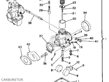 Yamaha Tz250f 1979 parts list partsmanual partsfiche