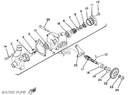 Yamaha Tz250g 1980 parts list partsmanual partsfiche