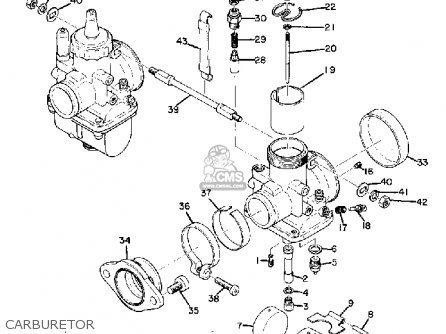 Yamaha Tz350 1972 1973 1974 Usa parts list partsmanual