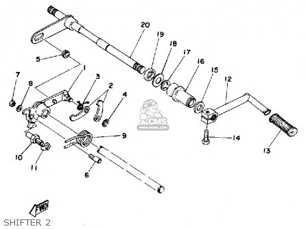 Yamaha Tz350 1977 Usa parts list partsmanual partsfiche