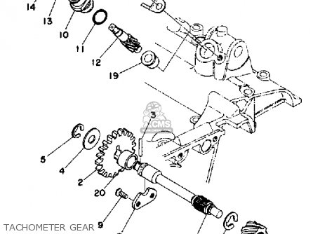 Yamaha TZ350 1977 USA parts lists and schematics