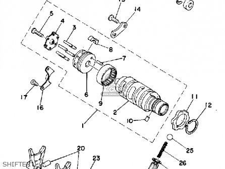 Yamaha Tz350 1978 Usa parts list partsmanual partsfiche