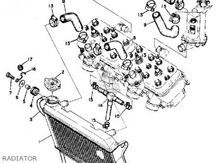 Yamaha Tz750 1974 Usa parts list partsmanual partsfiche