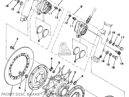 Yamaha Tz750 1977 Usa parts list partsmanual partsfiche