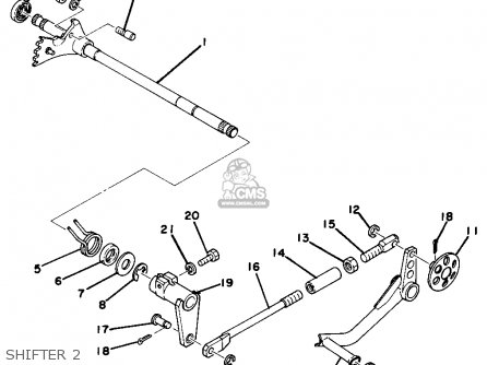 Yamaha TZ750 1977 USA parts lists and schematics