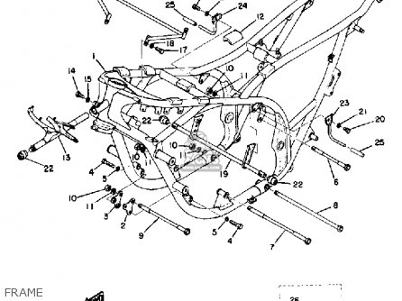 Yamaha Tz750a 1974 parts list partsmanual partsfiche