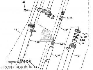 Yamaha TZR125 1987 2RH FRANCE 272RH-351F1 parts lists and