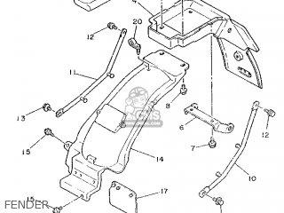 Yamaha Tzr250 1989 2xw2 England 292xw-310e1 parts list