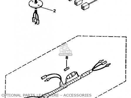 Yamaha V-6 Excel H 1987 parts list partsmanual partsfiche