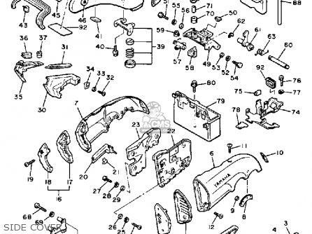 Yamaha V-MAX1200 1985 (F) USA parts lists and schematics