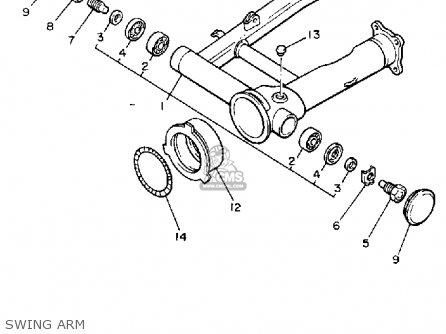 Yamaha V-max1200 1989 (k) California parts list
