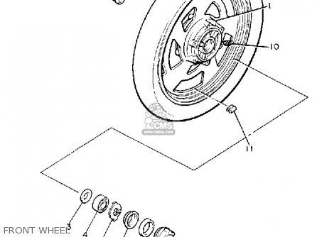 Yamaha V-max1200 1989 (k) Usa parts list partsmanual