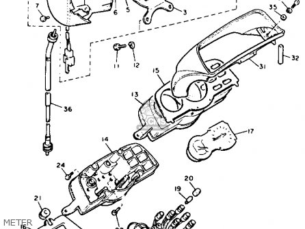 Yamaha V-max1200 1990 (l) California parts list