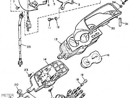 Yamaha V-max1200c 1986 (g) California parts list