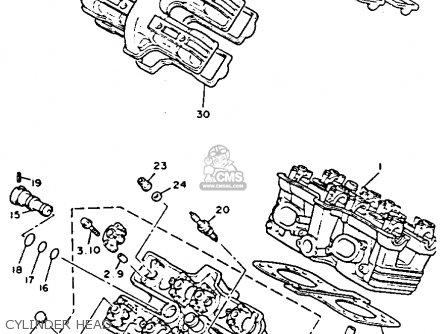 Yamaha V-MAX1200C 1992 (N) CALIFORNIA parts lists and