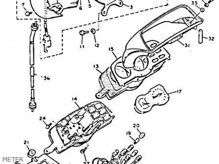 Yamaha V-max1200c 1992 (n) California parts list
