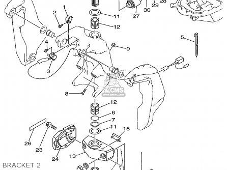 Yamaha V200/v225trx 1999 parts list partsmanual partsfiche