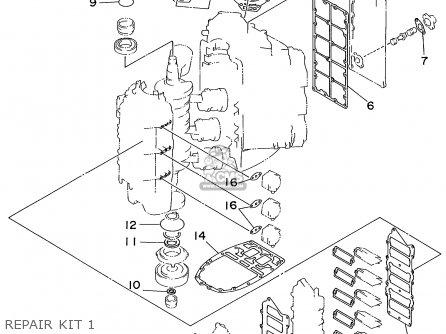 Yamaha V200/V225TRX 1999 parts lists and schematics