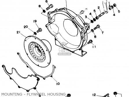 Yamaha V6 4.3 STERN DRIVE ENGINE 1990 parts lists and