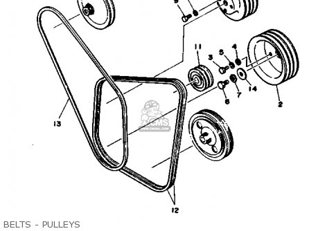 Yamaha V6 4.3 Yems 1990 Engine parts list partsmanual