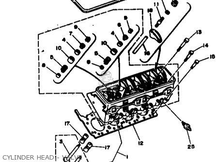 Yamaha V8 5.0 1990 ENGINE parts lists and schematics