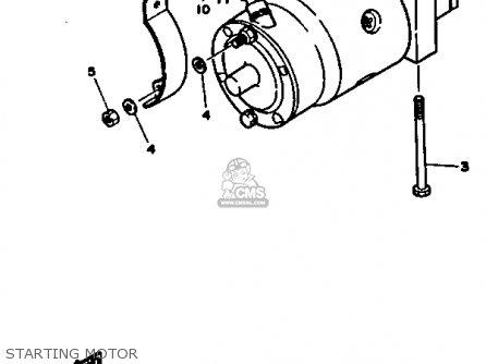 Yamaha V8 5.0 1990 Engine parts list partsmanual partsfiche