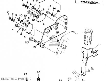 Yamaha V8 5.0 Yems 1990 Engine parts list partsmanual