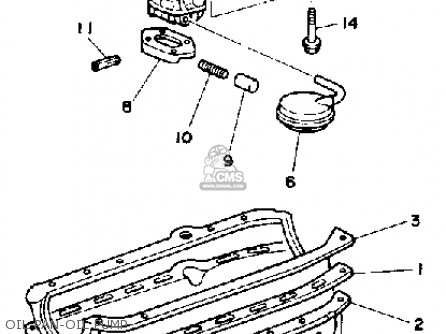 Yamaha V8 5.0 Yems 1990 Engine parts list partsmanual