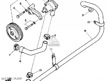 Yamaha V8 5.0 YEMS 1990 ENGINE parts lists and schematics