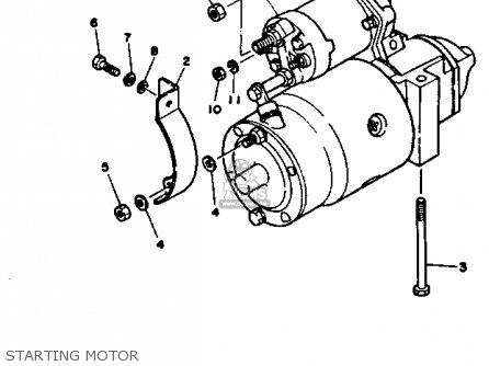 Yamaha V8 5.7 1990 ENGINE parts lists and schematics