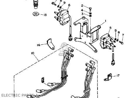 Yamaha V8 5.7 YEMS 1990 ENGINE parts lists and schematics