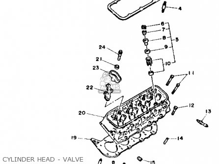 Yamaha V8 7.4 1992 ENGINE parts lists and schematics