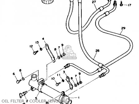 Yamaha V8 7.4 1992 ENGINE parts lists and schematics