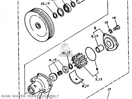 Yamaha V8 7.4 1992 Engine parts list partsmanual partsfiche