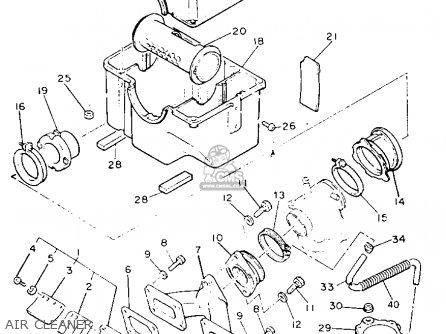 Yamaha Vk540et Viking 1993 parts list partsmanual partsfiche