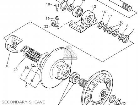 Yamaha Vk540ew 1996 parts list partsmanual partsfiche