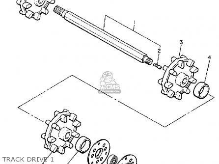 Yamaha Vk540m 1988 parts list partsmanual partsfiche