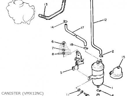 Yamaha Vmx12 Vmax 1985 (f) Usa parts list partsmanual
