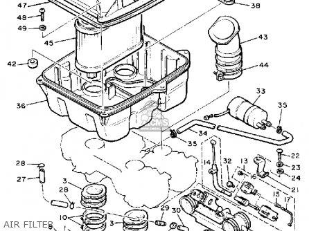 Yamaha VMX1200 1988 V-MAX1200 USA parts lists and schematics