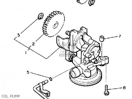 Yamaha VMX1200C 1988 V-MAX1200 CALIFORNIA parts lists and