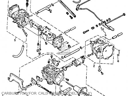 Yamaha Vmx1200sc V-max 1986 parts list partsmanual partsfiche