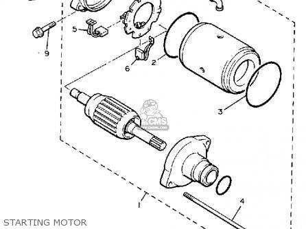 Yamaha Vmx12c Vmax 1985 (f) California parts list