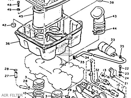 Yamaha Vmx12d V-max 1992 parts list partsmanual partsfiche