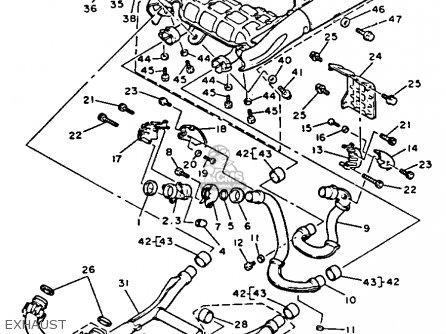 Yamaha Vmx12dc V-max 1992 parts list partsmanual partsfiche