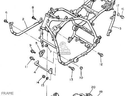 Yamaha Vmx12u V-max 1988 parts list partsmanual partsfiche