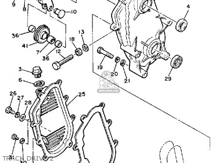 Yamaha Vmx540g V-max 1983 parts list partsmanual partsfiche