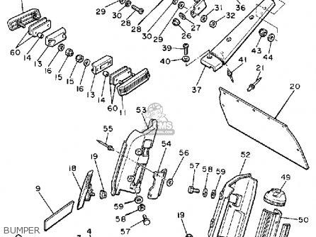 Yamaha Vmx540h V-max 1984 parts list partsmanual partsfiche