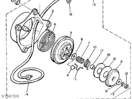Yamaha VMX540H V-MAX 1984 parts lists and schematics