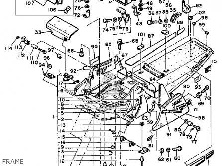 Yamaha Vmx540l V-max 1987 parts list partsmanual partsfiche